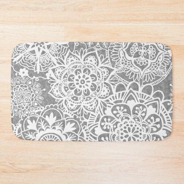Soft Grey Mandala Pattern Bath Mat