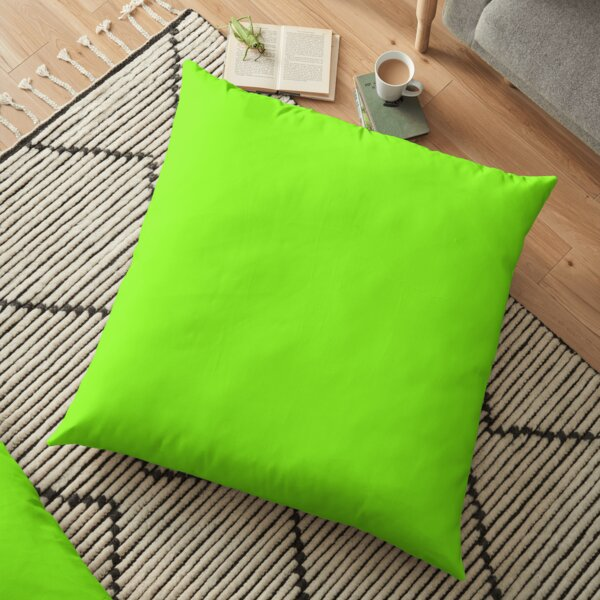 Cheapest Solid Bright Neon Lawn Green Color Floor Pillow