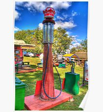 Antique Gas Pump Poster