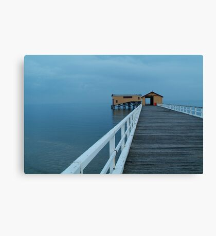 Twilight Mist, Queenscliff Pier Canvas Print