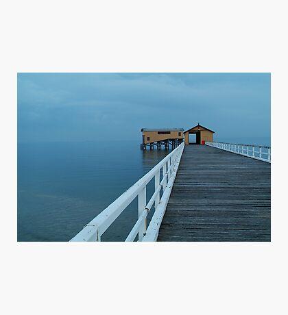 Twilight Mist, Queenscliff Pier Photographic Print