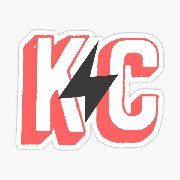 kc lightning - red Sticker