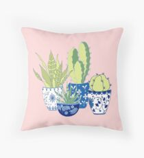 Chinoiserie Cactus Throw Pillow