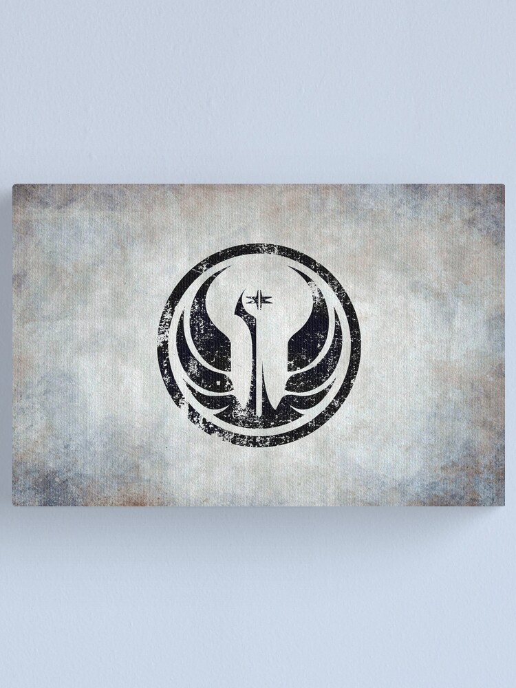 Alternate view of Old Republic Logo · Distressed Canvas Print