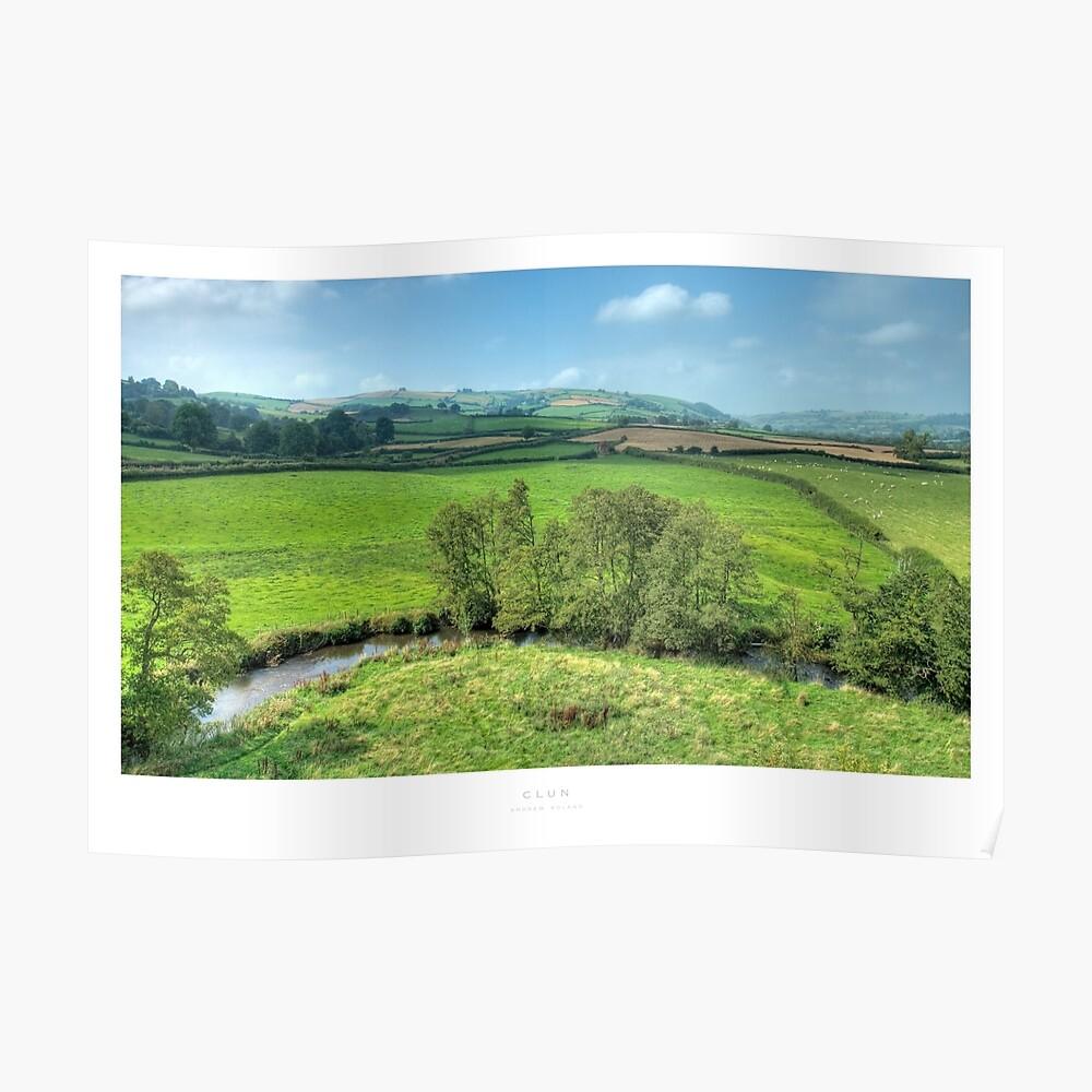 Clun, Shropshire Poster