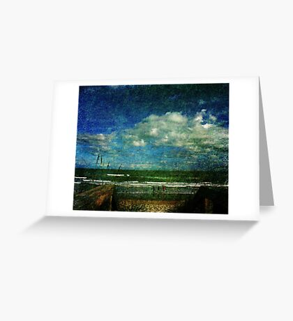 A day at the beach... Greeting Card