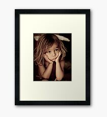 Little Mind... Big Thoughts Framed Print