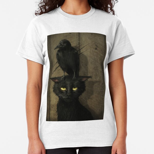 The Raven and the Cat Classic T-Shirt
