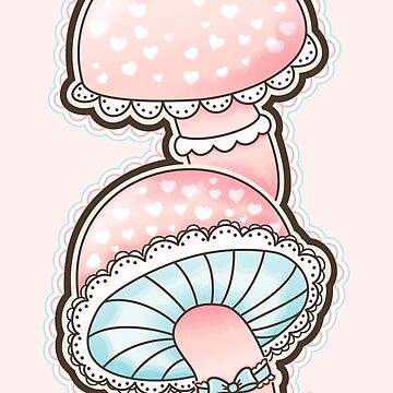 Cute Girly Mushrooms by gigglish