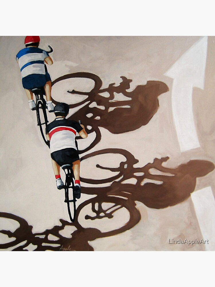 The Cycle Ride 2 - cycling art by LindaAppleArt