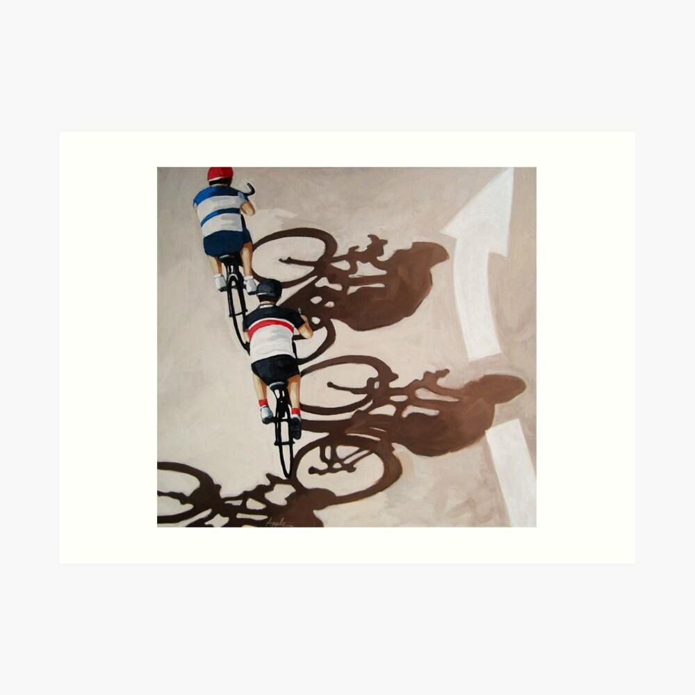 The Cycle Ride 2 - cycling art Art Print