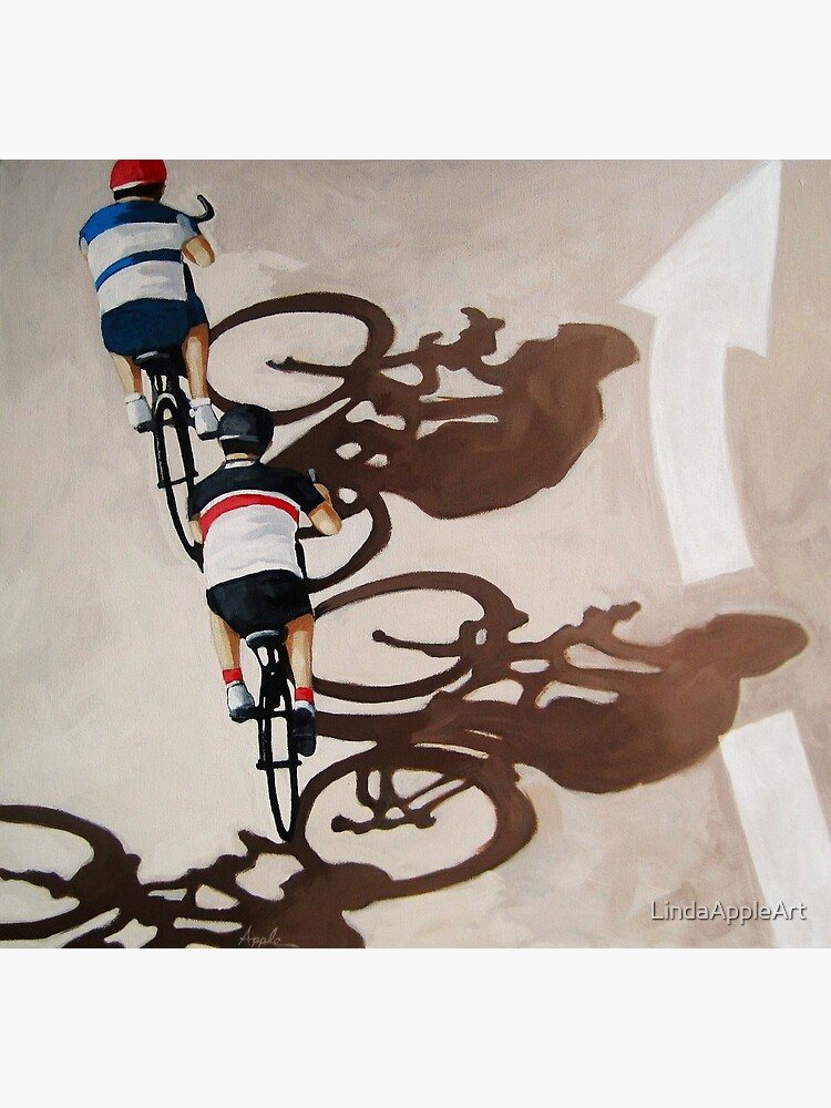 The Cycle Ride 2 - Fahrradkunst von LindaAppleArt