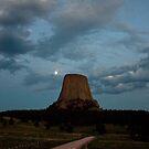 Devils Tower Moon by Daniel Owens