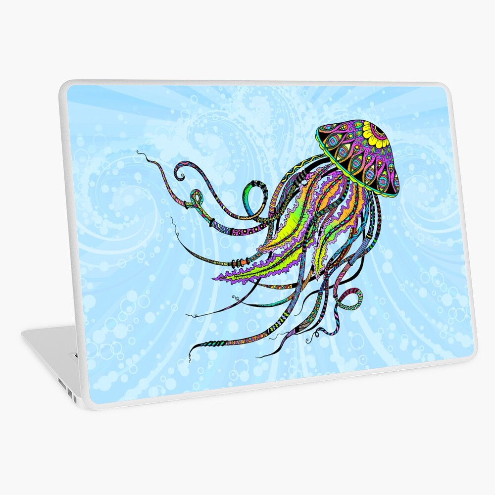 Medusas electricas Vinilo para portátil