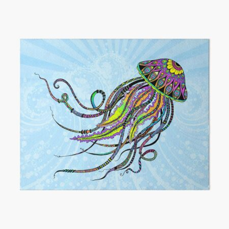 Electric Jellyfish Art Board Print