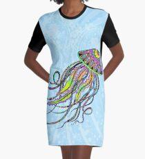 Electric Jellyfish Graphic T-Shirt Dress