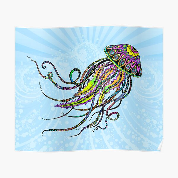 Electric Jellyfish Poster