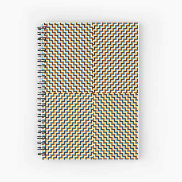 #Illusions gif, #abstract, #design, #pattern, art, illustration, twirl, hypnosis, twist, target, spiral Spiral Notebook