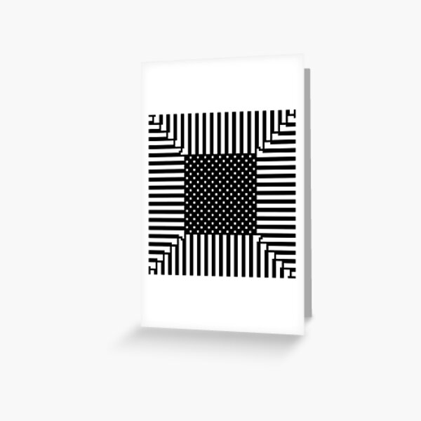 #Illusions gif, #abstract, #design, #pattern, art, illustration, twirl, hypnosis, twist, target, spiral Greeting Card