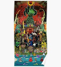 King Gizzard and the Lizard Wizard Collage - all proceeds to charity - King Gizzard's Altered Beasts Club Band Poster