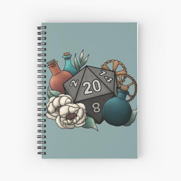 Artificer Class D20 - Tabletop Gaming Dice Spiral Notebook