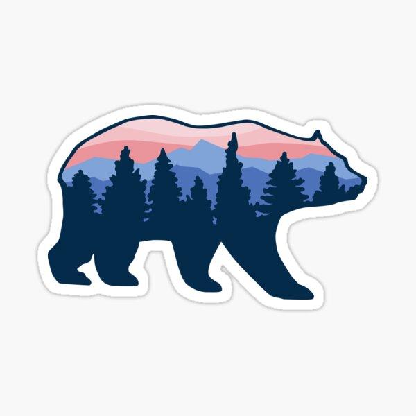 Bear roaming forrest  Sticker