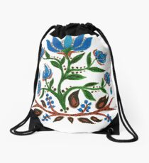 Burst of Blue Flowers Drawstring Bag