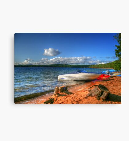 Blue Lake, Ontario, Canada Canvas Print