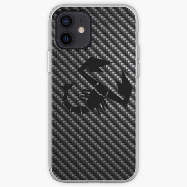 Abarth logo carbone Coque souple iPhone