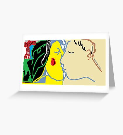 The Kiss VI -(030615)- MS Paint/Mouse drawn Greeting Card