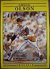 486 - Gregg Olson by Foob's Baseball Cards