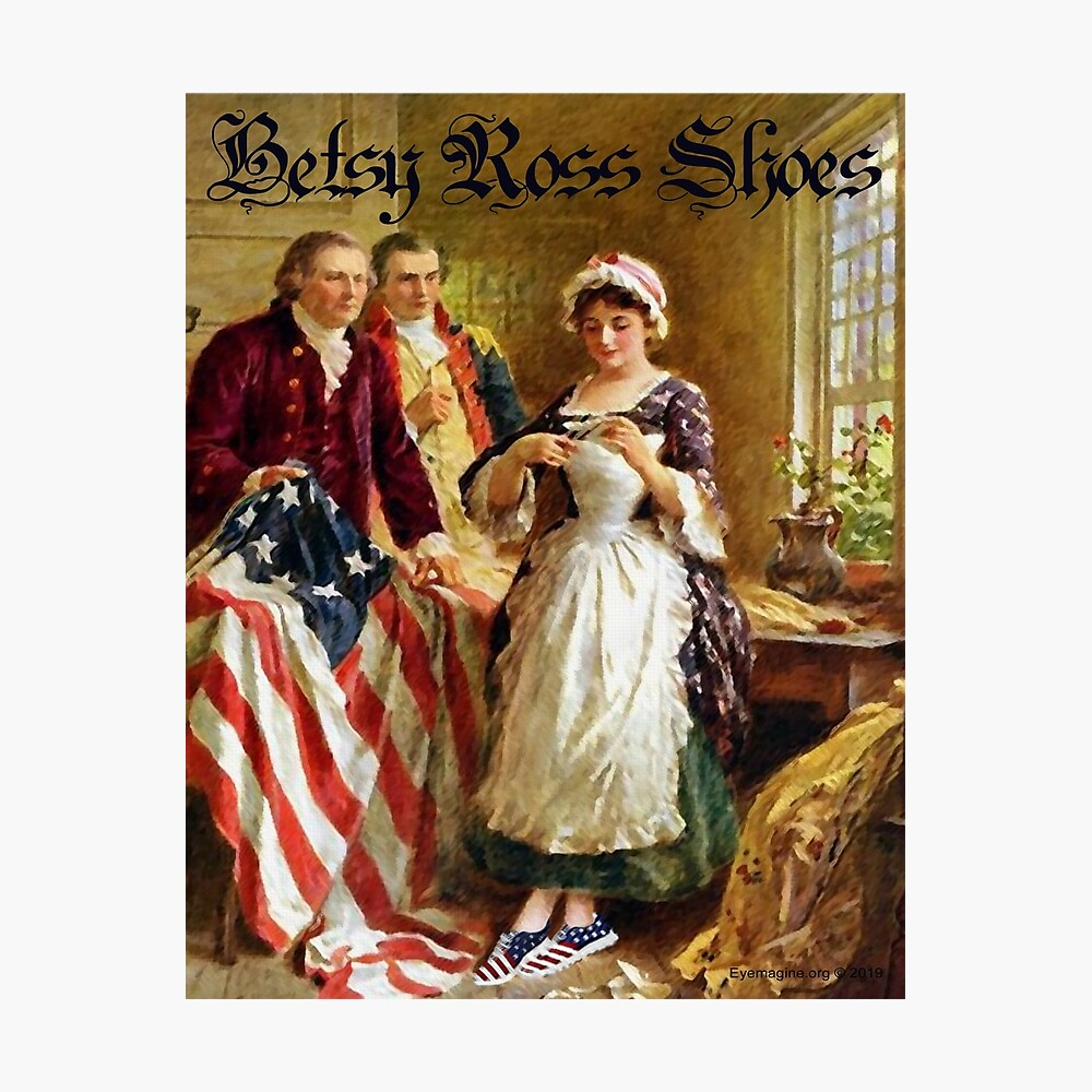 Betsy Ross Shoes Photographic Print