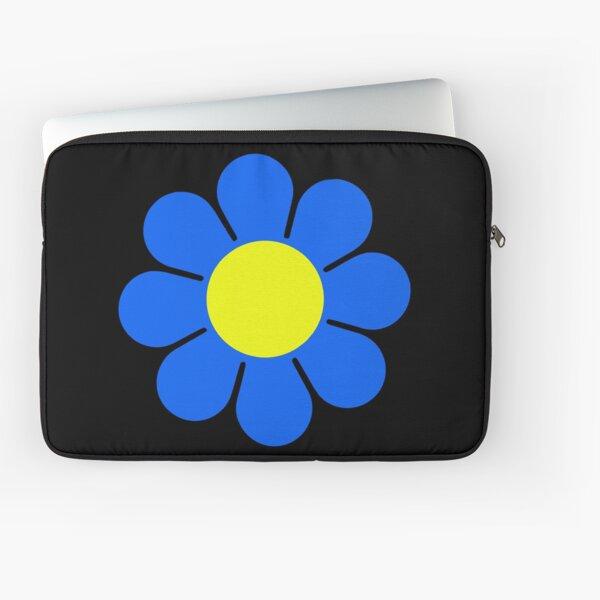 Blue Yellow Hippy Flower Daisy Laptop Sleeve