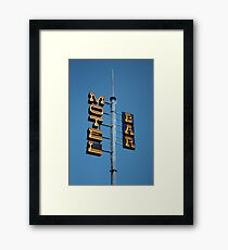 Motel / Bar Framed Print