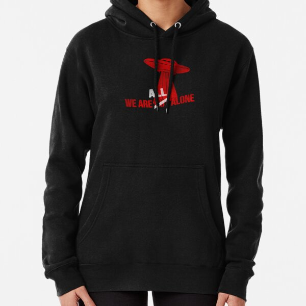 We Are All Alone - White Pullover Hoodie