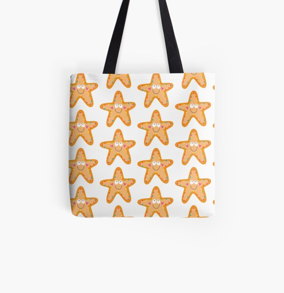 Happy Starfish All Over Print Tote Bag