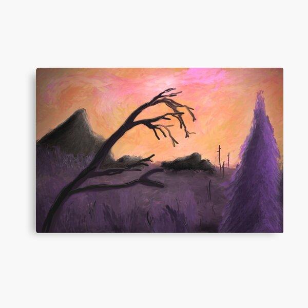 Dreamy Purple Limbs Canvas Print