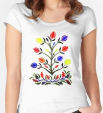Slavic Flower 4 Fitted Scoop T-Shirt