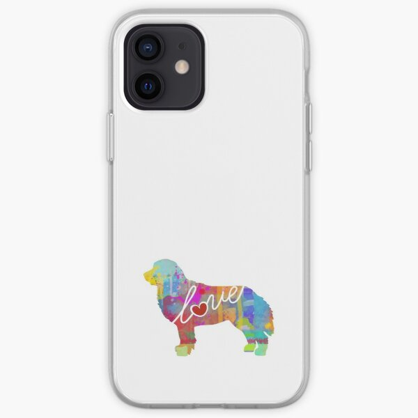 Bernese Mountain Dog Love - A Bright and Colorful Watercolor Style Gift iPhone Soft Case