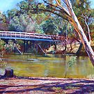 The Historic Goulburn Bridge - Seymour by Lynda Robinson