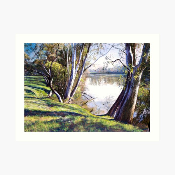 The Goulburn River - Upstream Art Print