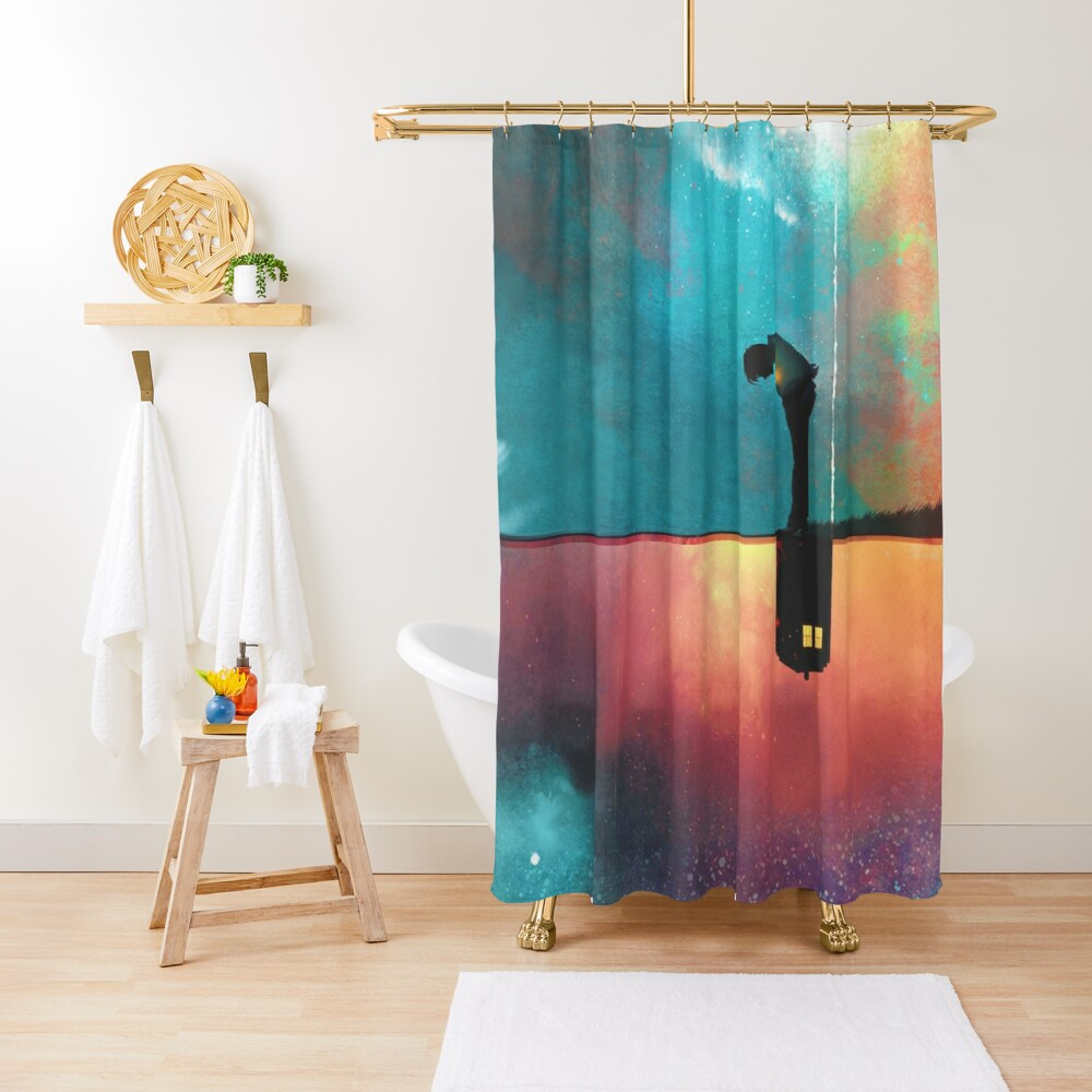 Peace for Lonely Monsters Shower Curtain