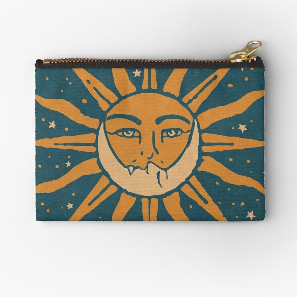 Sun and Moon | Vintage Zipper Pouch