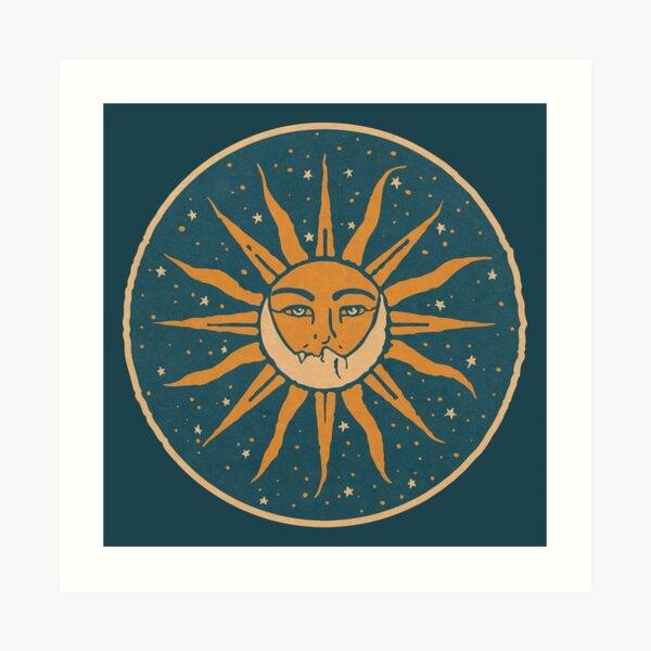 Sun and Moon | Vintage Art Print