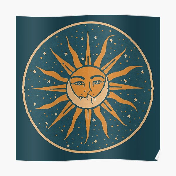 Sun and Moon | Vintage Poster
