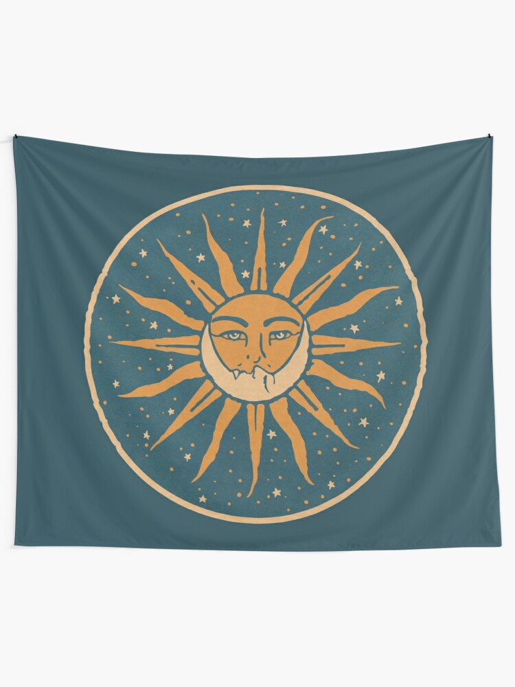 Alternate view of Sun and Moon | Vintage Tapestry