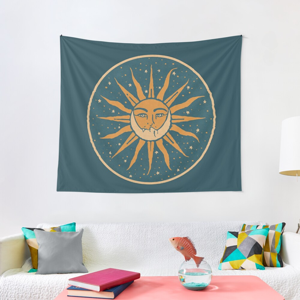 Sun and Moon   Vintage Tapestry