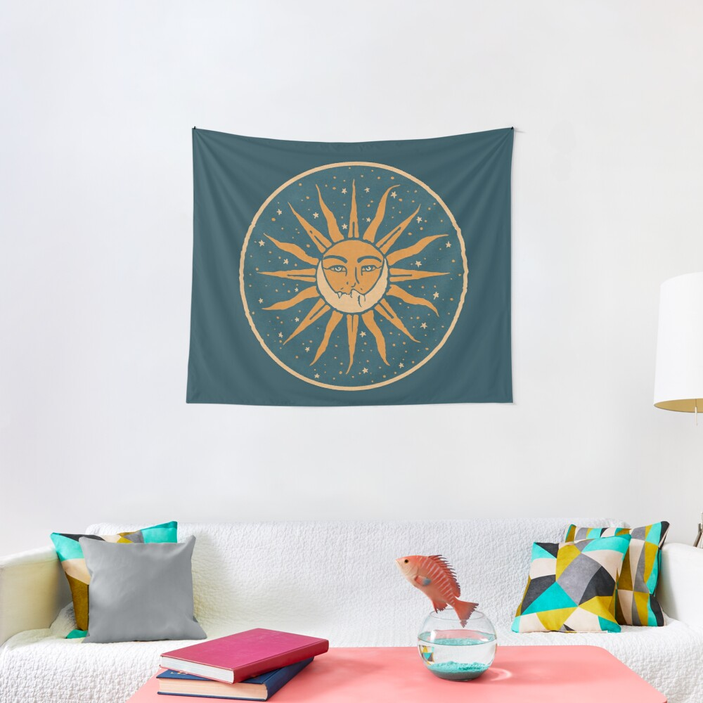 Sun and Moon | Vintage Tapestry
