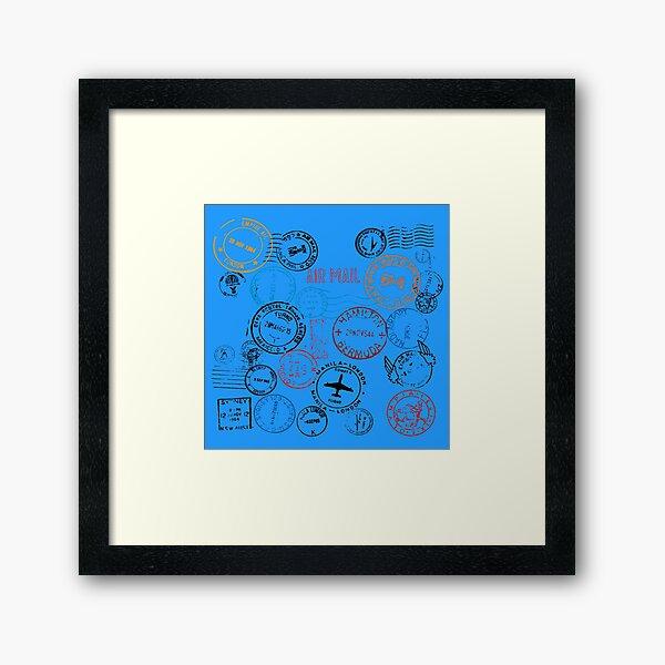 Stamped Mail Framed Art Print