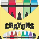 Pack of Crayons Sticker by Carprincess